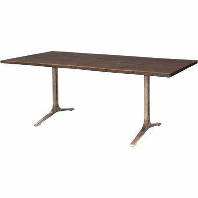 Fashionable Samara 78 Inch Dining Table In Seared Oak And Bronze Cast In Dining Tables In Seared Oak (#10 of 20)