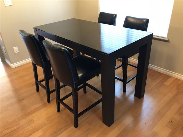 Favorite $300 · Dining Table – Condo Size / Bar Stool Height Intended For Glass Top Condo Dining Tables (#8 of 20)