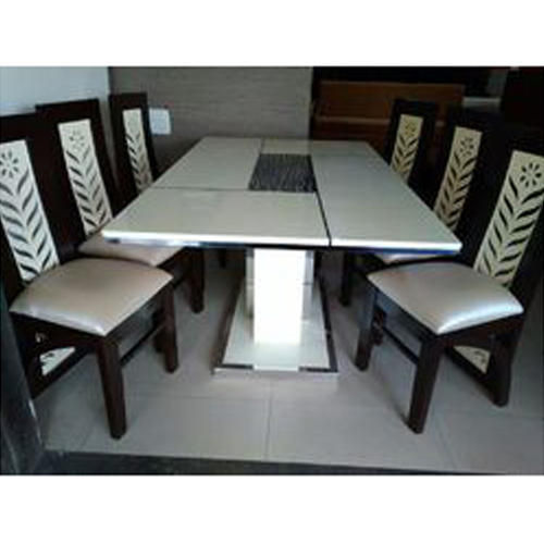 Favorite 6 Seater Retangular Wood Contemporary Dining Tables For 6 Seater Stone Dining Table Set (View 5 of 20)