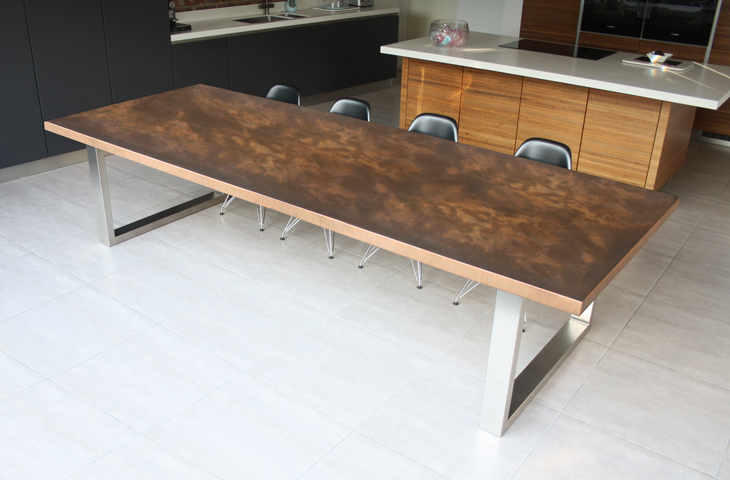 Favorite Dining Tables With Brushed Stainless Steel Frame Pertaining To Design & Décor: Copper Tables And Furnishings In Top London (View 20 of 20)