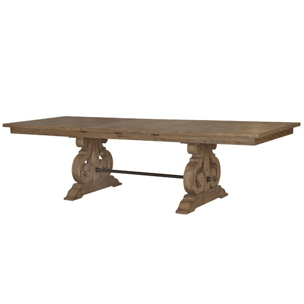 Favorite Distressed Walnut And Black Finish Wood Modern Country Dining Tables With Regard To 108 Inch Dining Table (View 11 of 20)