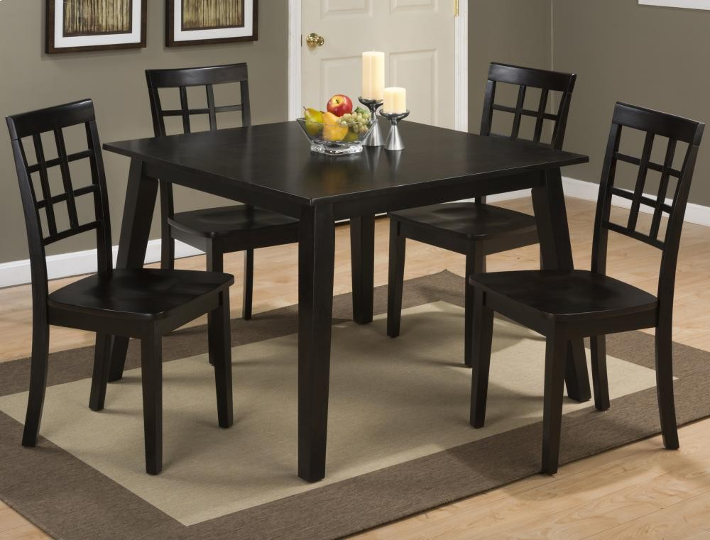 Favorite Espresso Finish Wood Classic Design Dining Tables Within Simplicity Espresso Square Dining Table (#12 of 20)