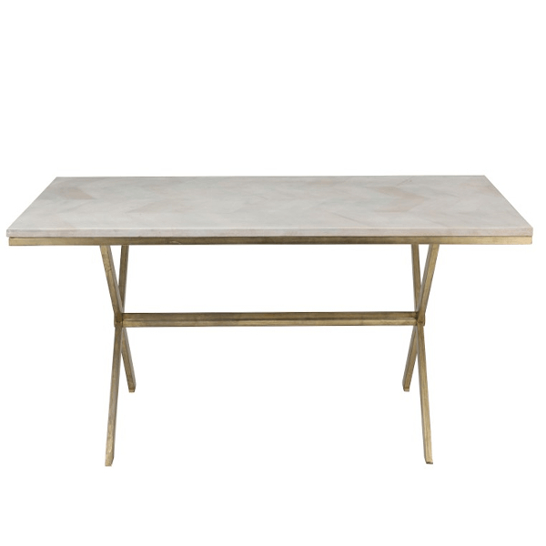 Favorite Iron Dining Tables With Mango Wood With Regard To Dining Table Dyca Mango Wood/iron (White/gold) (#8 of 20)