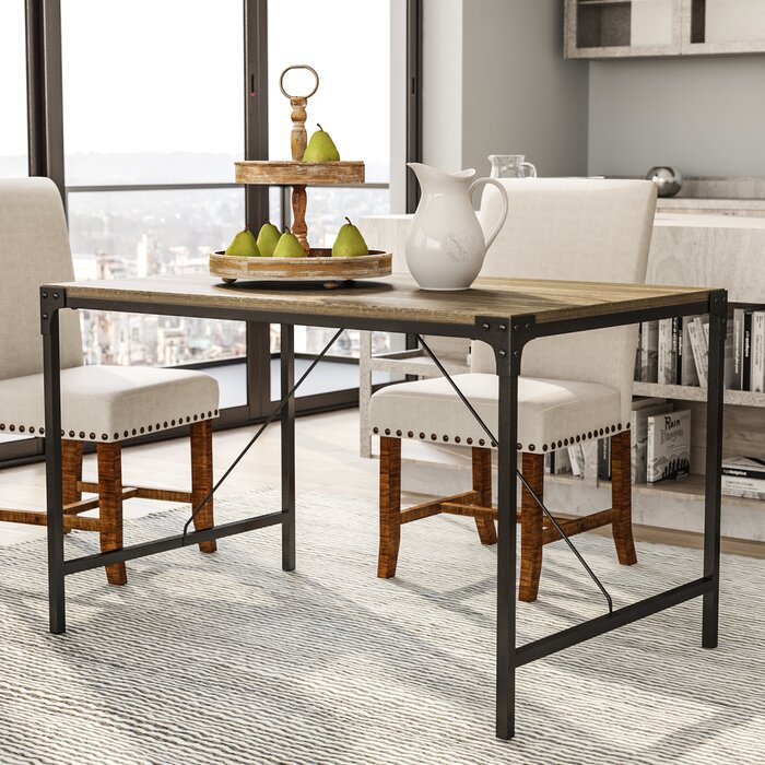Favorite Iron Wood Dining Tables Inside Orchard Hill Angle Iron And Wood Dining Table (View 19 of 20)