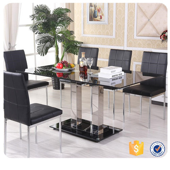 Favorite Modern Design Stainless Steel Base And Tempered Glass Top 8 Seater Dining  Table – Buy 8 Seater Dining Table,stainless Steel 8 Seater Dining In Modern Glass Top Extension Dining Tables In Stainless (#11 of 20)