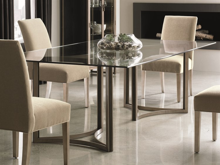 Favorite Modern Gold Dining Tables With Clear Glass With Regard To Caracole Modern Artisans Clear Glass With Matte Gold & Dark (#5 of 21)