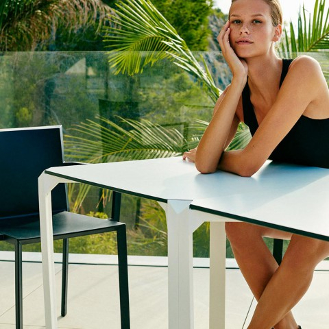 Favorite Vondom Quartz Outdoor Square Dining Table, Modern Design Regarding Dom Square Dining Tables (#11 of 20)