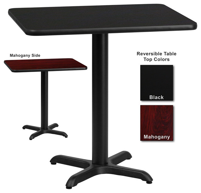 Flash Furniture 30 Inch X 42 Inch Rectangular Dining Table Regarding Preferred Transitional Rectangular Dining Tables (#5 of 20)