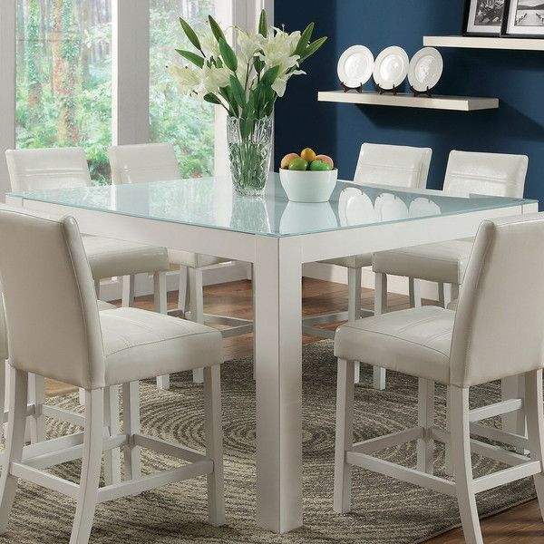 Frosted Elegance Comes To The Dining Room In The Form Of The Pertaining To Favorite Frosted Glass Modern Dining Tables With Grey Finish Metal Tapered Legs (#8 of 20)