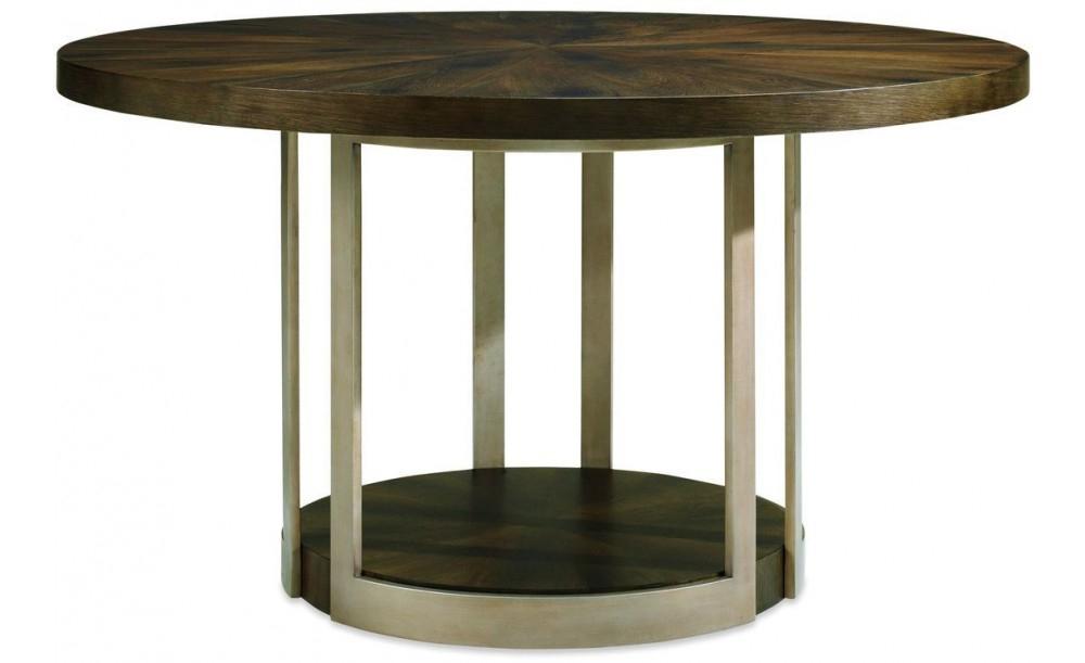 Fumed Oak Dining Tables Regarding Popular Caracole Modern Artisans Gather Round Dining Table, Dark Fumed Oak (#7 of 20)