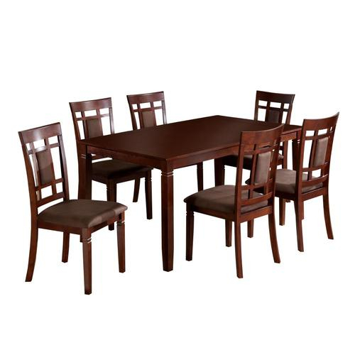 Furniture Of America Montclair Dark Cherry Dining Set With Rectangular Dining Table At Lowes Inside Favorite Charcoal Transitional 6 Seating Rectangular Dining Tables (View 6 of 20)