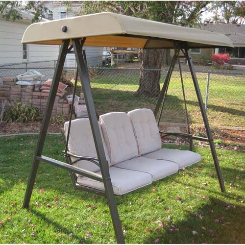 Garden Winds Replacement Canopy Top Cover For The Garden In Porch Swings With Canopy (#7 of 20)