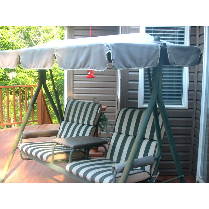 Garden Winds Replacement Canopy Top For Walmart 2 Seater Swing – Walmart In 2 Person Outdoor Convertible Canopy Swing Gliders With Removable Cushions Beige (View 18 of 20)