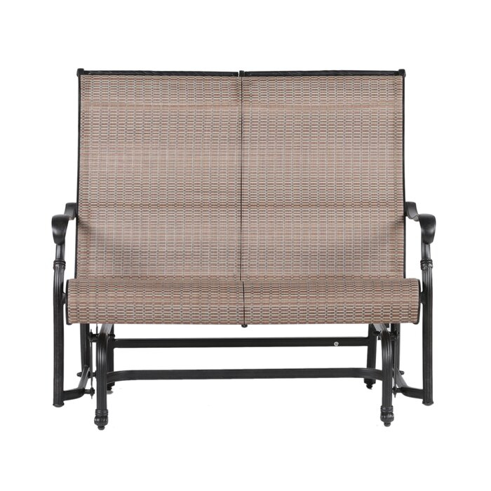 Popular Photo of Double Glider Benches With Cushion