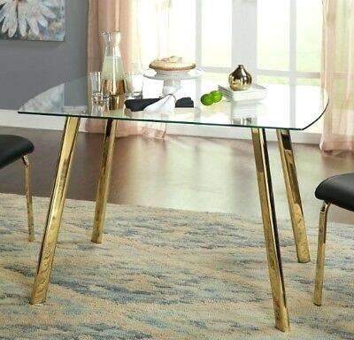 Glass And Gold Dining Table – Digitalkey (#6 of 21)
