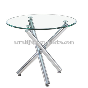 Glass Dining Table With Cross Chrome Table Leg For Dining Room Home  Furniture – Buy Tempered Glass Dining Table,dining Table Cross Leg,glass  Top Round Throughout Well Liked Glass Dining Tables With Metal Legs (#3 of 20)