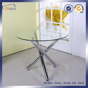 Glass Dining Tables With Metal Legs Inside Most Current Round Glass Dining Table With 3 Metal Legs – Buy Round Glass Dining  Table,dining Table With 3 Legs,dining Table With Metal Legs Product On  Alibaba (#5 of 20)