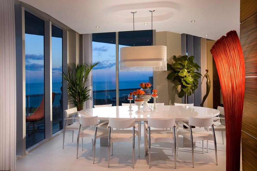 Glass Top Condo Dining Tables With Regard To Most Recently Released Miami Dining Table For Small Apartment Dining Room Modern (#13 of 20)