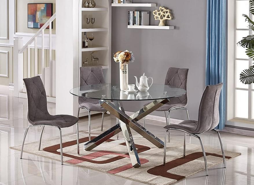 Glass Top Condo Dining Tables Within 2020 Lv – C Veronica (#14 of 20)