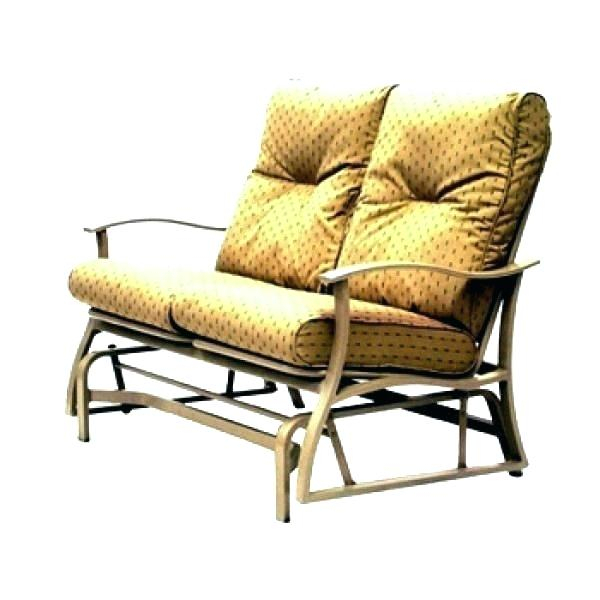 Glider Bench Cushions Outdoor Swing Replacement Patio Pertaining To Double Glider Benches With Cushion (#8 of 20)