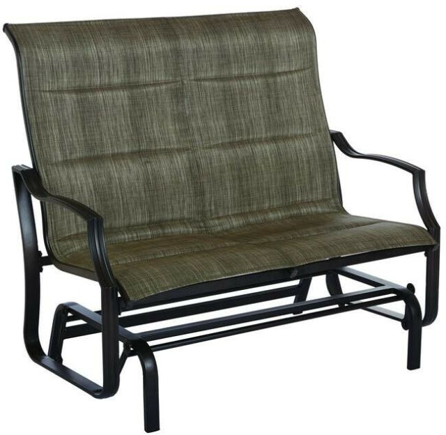 Hampton Bay Patio Double Glider Outdoor Yard Garden Swinging Bench Rocking Regarding Padded Sling Double Glider Benches (View 8 of 20)