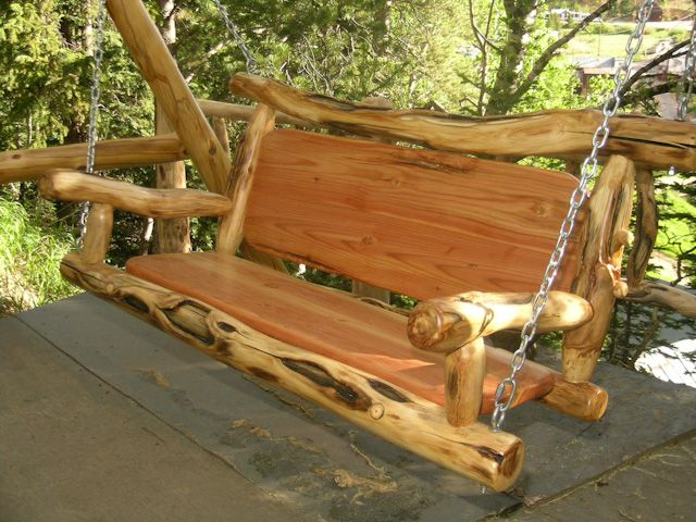 Handmade Slab Wooden Porch Swing – Google Search | Make Some Intended For 2 Person Natural Cedar Wood Outdoor Swings (#14 of 20)