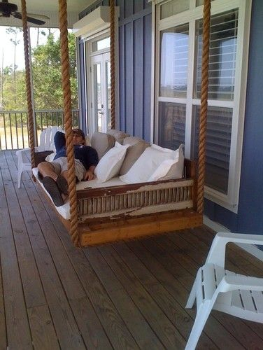 Hanging Day Bed Made From Antique Shutters Eclectic Day Beds For Day Bed Porch Swings (#12 of 20)