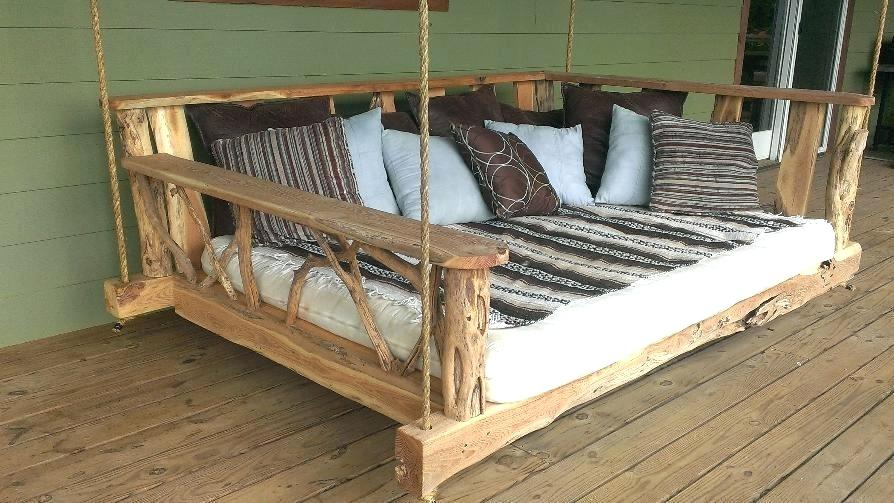 Hanging Porch Swing Bed Cushions Replacement Outdoor Beds Throughout Patio Hanging Porch Swings (#5 of 20)