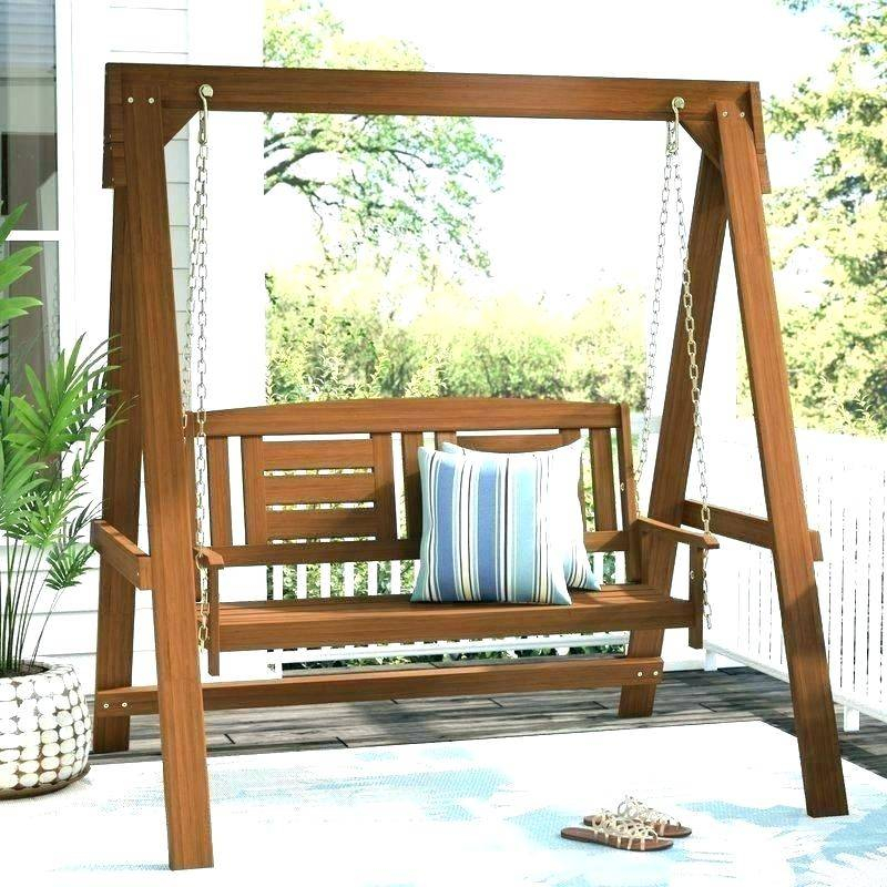 Hanging Porch Swing Outdoor Round Hardwood Eddy Engaging Inside Patio Hanging Porch Swings (#6 of 20)