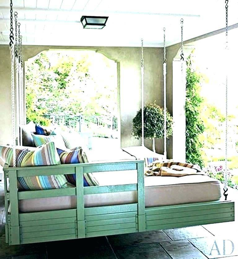 Hanging Porch Swing Plans Round Swings Beds Outdoor Daybed Pertaining To Daybed Porch Swings With Stand (#10 of 20)