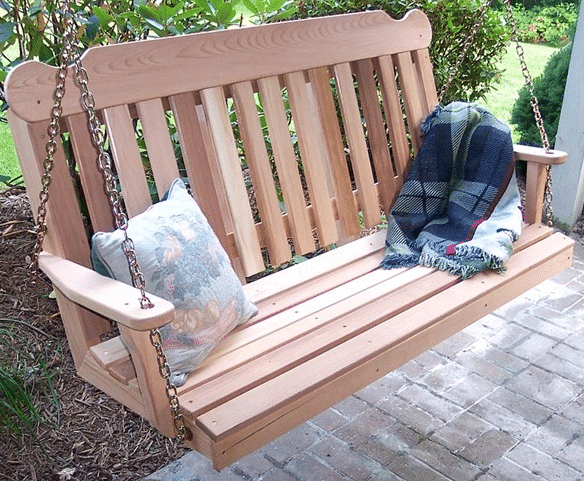 Hanging Wood Porch Swing – Outdoor Room Ideas Within Bristol Porch Swings (View 20 of 20)