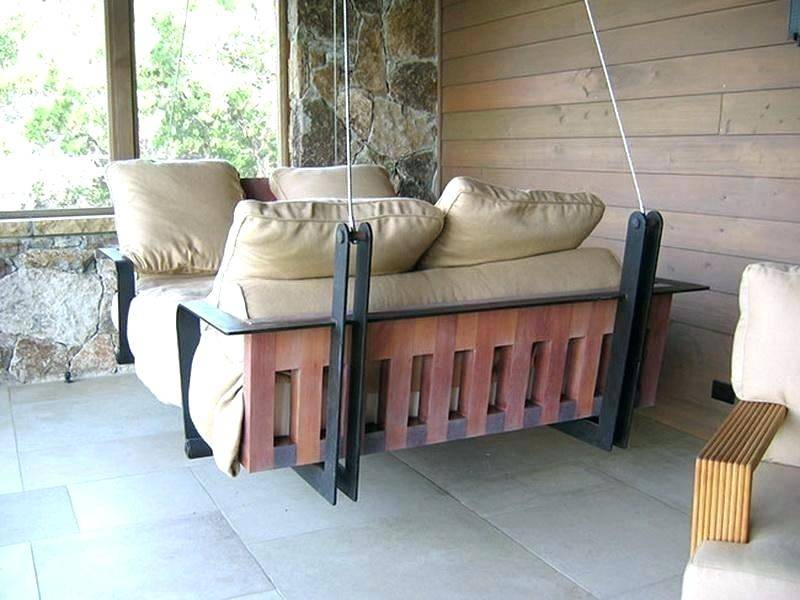 Hanging Wooden Porch Swings Cushions Swing Home Improvement Pertaining To Patio Hanging Porch Swings (#7 of 20)