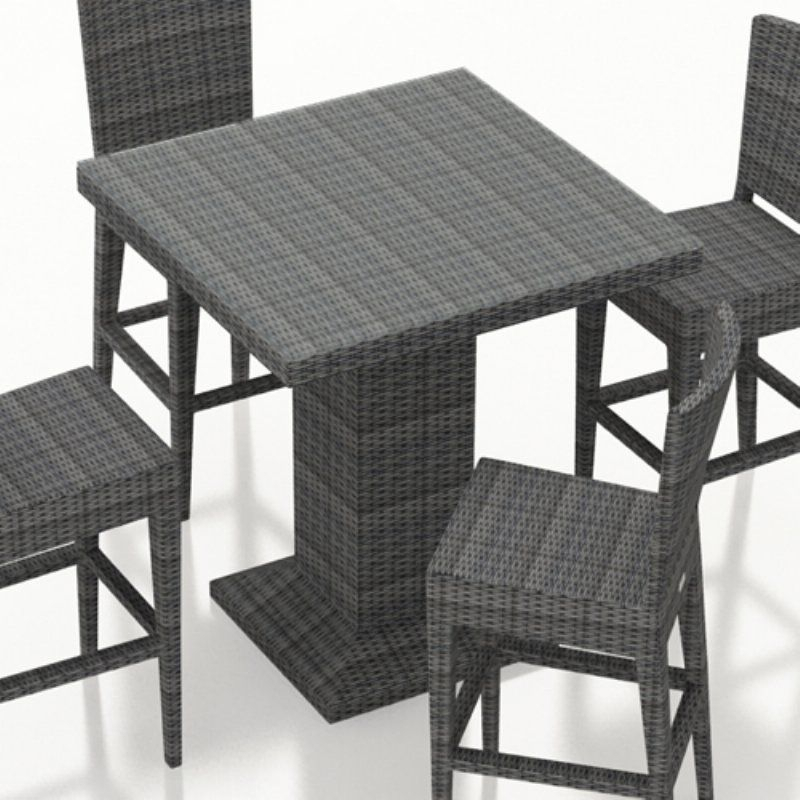 Harmonia Living District Resin Wicker Square Bar Height Pertaining To Widely Used Patio Square Bar Dining Tables (View 5 of 20)