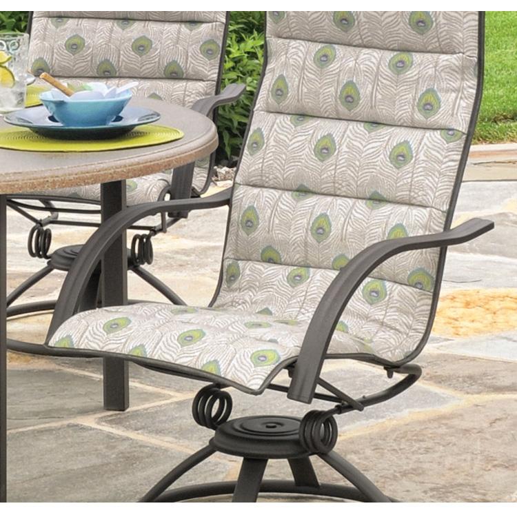 Homecrest Palisade Sling High Back Patio Swivel Rocker In Padded Sling High Back Swivel Chairs (#4 of 20)