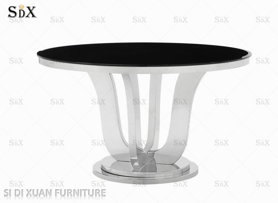 [%[Hot Item] Modern Popular Polished Stainless Steel Round Dining Table For  Kitchen Use Pertaining To Trendy Long Dining Tables With Polished Black Stainless Steel Base|Long Dining Tables With Polished Black Stainless Steel Base In Most Popular [Hot Item] Modern Popular Polished Stainless Steel Round Dining Table For  Kitchen Use|Latest Long Dining Tables With Polished Black Stainless Steel Base In [Hot Item] Modern Popular Polished Stainless Steel Round Dining Table For  Kitchen Use|Favorite [Hot Item] Modern Popular Polished Stainless Steel Round Dining Table For  Kitchen Use Intended For Long Dining Tables With Polished Black Stainless Steel Base%] (#20 of 20)