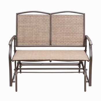 Hot Sale Porch Sling Aluminum Loveseat Glider/two Seats Double Glider Metal  Glider Chair Outdoor – Buy Glider Chair Outdoor,metal Glider Chair,two Inside Double Glider Loveseats (#12 of 20)