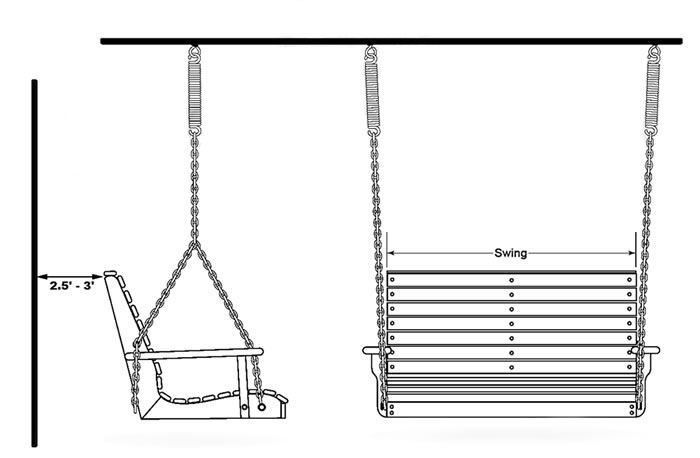 How To Install A Porch Swing – Porch Swings – Patio Swings In Porch Swings With Chain (#5 of 20)