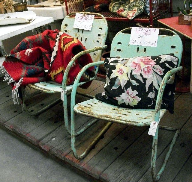 How To Shop For Vintage Outdoor Furniture Pertaining To 1 Person Antique Black Iron Outdoor Swings (#8 of 20)