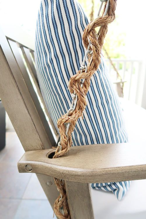 How To Wrap A Porch Swing Chain With Rope   Restoration Intended For Porch Swings With Chain (#6 of 20)