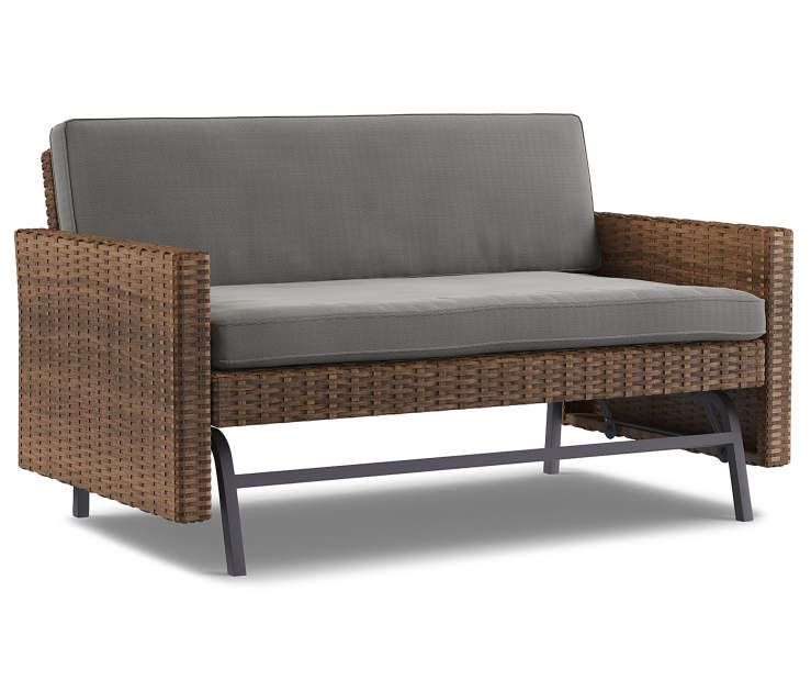 I Found A Shadow Creek All Weather Wicker 2 Person Cushioned In Cushioned Glider Benches With Cushions (View 9 of 20)
