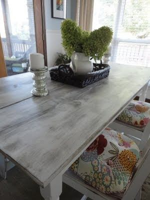 I Like The Distressed White/grey Color Of This Table (#11 of 20)