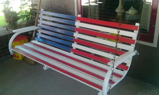 Inspiration about Imgur Post – Imgur In 2020 | Porch Swing, Birdhouse Designs For American Flag Porch Swings (#5 of 20)