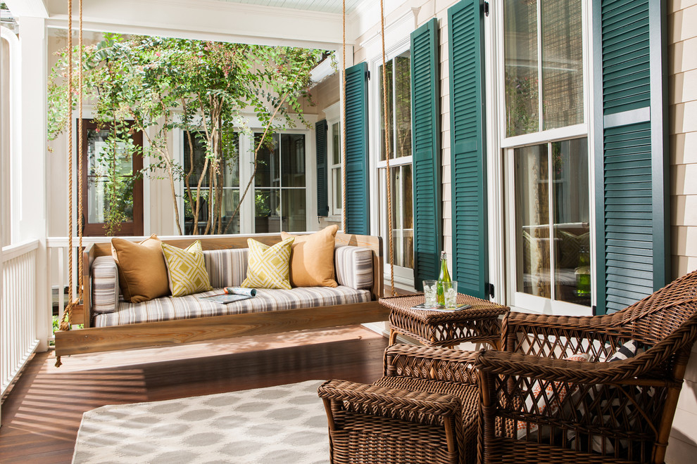 Impressive Wooden Porch Swings In Porch Traditional With Regarding Patio Hanging Porch Swings (#9 of 20)