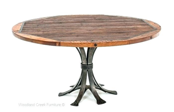 Inspiration about Industrial Round Dining Table – Salespots Inside Widely Used Small Round Dining Tables With Reclaimed Wood (#17 of 20)