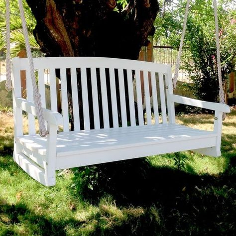 Inspiration about International Caravan Royal Fiji Porch Swing | Back Yard Inside CasualThames White Wood Porch Swings (#16 of 20)