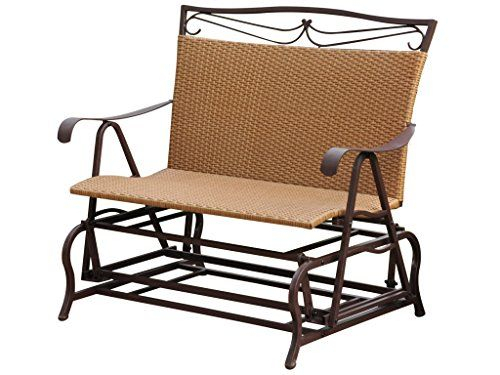 Inspiration about International Caravan Valencia Wicker Double Glider Patio Regarding Indoor/outdoor Double Glider Benches (#3 of 20)