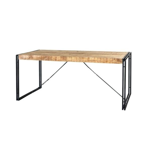 Iron Dining Tables With Mango Wood For Preferred Wood And Metal Dining Table – Stichling (#11 of 20)