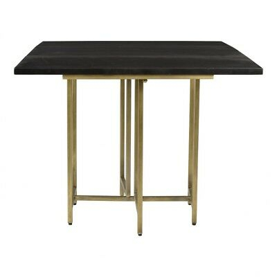 "Iron Dining Tables With Mango Wood Intended For Well Known 36"" W Square Dining Table Antique Brass Finished Iron Base Solid Mango Wood (#13 of 20)"