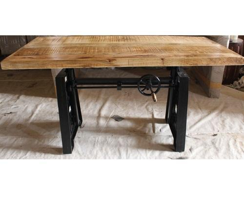 Iron Dining Tables With Mango Wood With 2019 Rectangular Industrial Mango Wood Dining Table (#16 of 20)