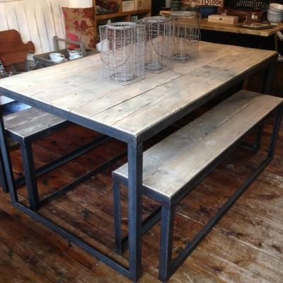 Iron Table, Iron Table Legs, Dining Table For Fashionable Iron Wood Dining Tables With Metal Legs (View 17 of 20)